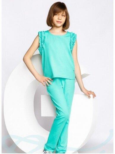 Mėtų spalvos laisvalaikio kostiumėlis 0555D106
