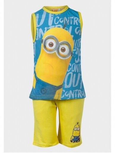 Minions vasariškas mėlynas geltonas kostiumėlis Pakalikai 1005D187