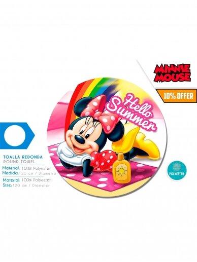 """Minnie Mouse"""" apvalus paplūdimio rankšluostis 120cm 1195D007 2"""