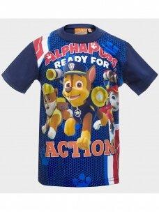 Paw Patrol mėlyni marškinėliai trumpomis rankovėmis 1020D190