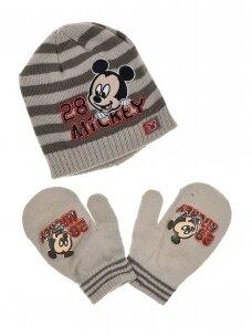 Pilka kepurė ir pirštinės Mickey Mouse 1048D208