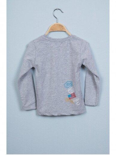 Pilki vaikiški marškinėliai WANDER ARE LOST 0803D164 3