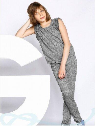 Pilkas laisvalaikio kostiumėlis mergaitei 0556D106