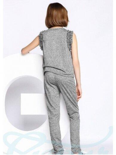 Pilkas laisvalaikio kostiumėlis mergaitei 0556D106 3