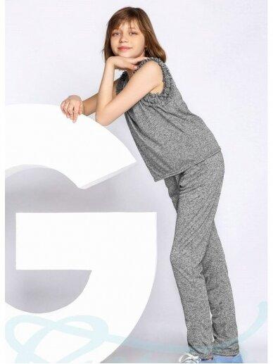 Pilkas laisvalaikio kostiumėlis mergaitei 0556D106 2