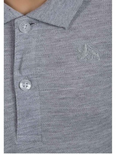 Pilki Polo marškinėliai ilgomis rankovėmis 0231D046 2
