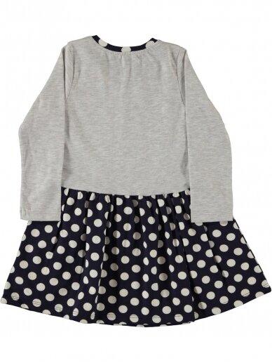 Pilkos ir tamsiai mėlynos spalvos suknelė Baltoji Meškutė 0199D39 2