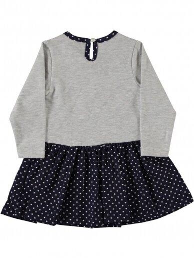 Pilkos ir tamsiai mėlynos spalvos suknelė Love You 0192D38 2