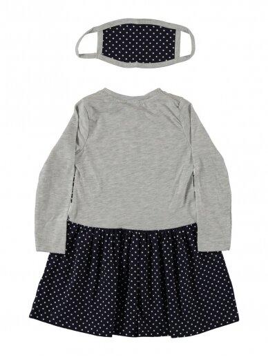 Pilkos ir tamsiai mėlynos spalvos suknelė Zuikis 0194D38 2