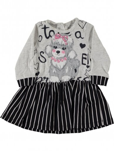 Pilkos spalvos vaikiška suknelė 0189D38
