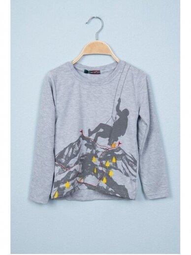 Plonas pilkas džemperiukas Alpinistas 0819D165