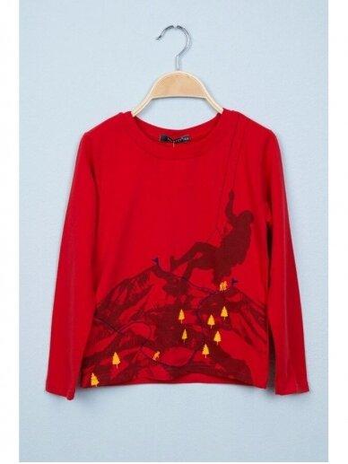 Plonas raudonas džemperiukas Alpinistas 0815D165