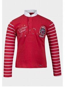 Raudona palaidinė mergaitei Vintage winter 0330D056