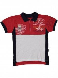 Raudoni marškinėliai su sagutėmis 0053D12