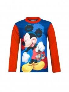 Raudoni Mickey Mouse marškinėliai ilgomis rankovėmis 1031D193