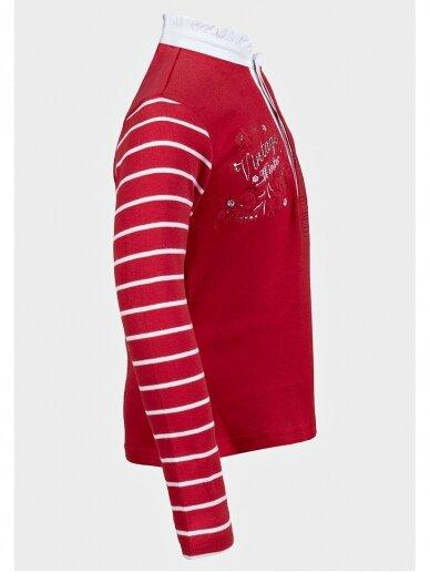 Raudona palaidinė mergaitei Vintage winter 0330D056 2