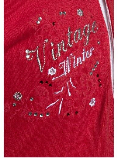 Raudona palaidinė mergaitei Vintage winter 0330D056 4