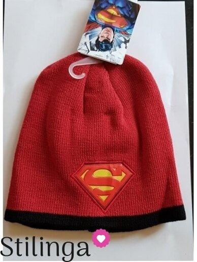Raudona vaikiška kepurė Supermenas 0707D133
