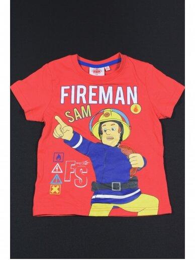 Raudoni Marškinėliai Fireman Sam 0044D11