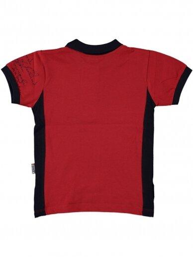 Raudoni marškinėliai su sagutėmis 0053D12 2