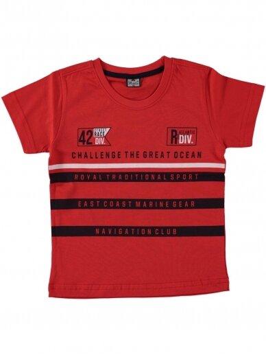Raudonos spalvos marškinėliai 0048D12
