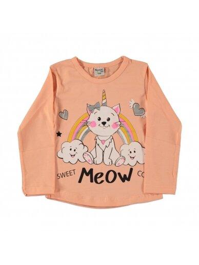 Rausvos spalvos vaikiška palaidinė Meow 0217D042