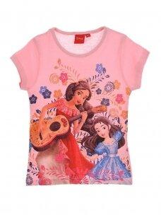 Rožinės spalvos marškinėliai mergaitei ELENA 1093D215