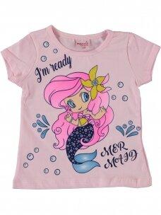Rožinės spalvos marškinėliai Undinėlė 1067D212