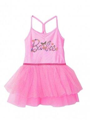 Rožinės spalvos suknelė su tiuliu Barbie 1161D238
