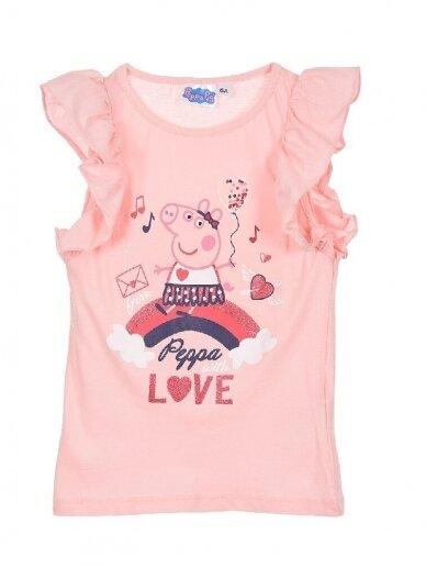 Rožinės spalvos marškinėliai PEPPA PIG 0412D067