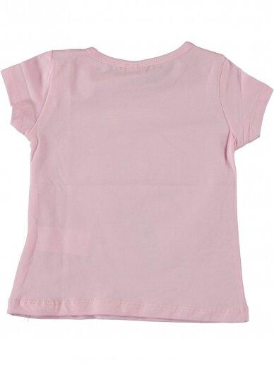 Rožinės spalvos marškinėliai Undinėlė 1067D212 2