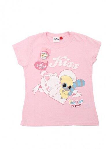 Rožinės spalvos marškinėliai Yoohoo & Friends 0536D101