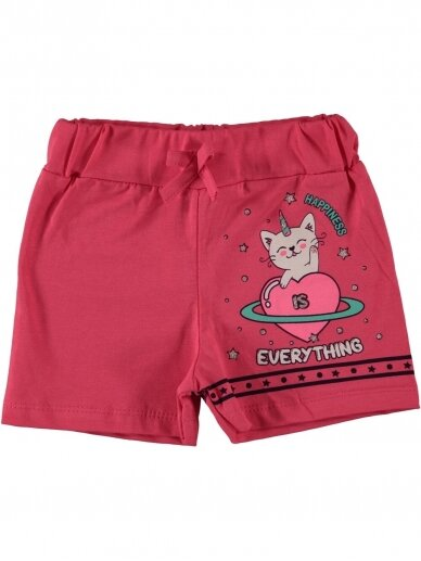 Rožinės spalvos šortukai mergaitei 1064D212