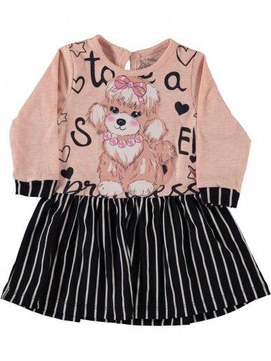 Rožinės spalvos vaikiška suknelė 0191D38