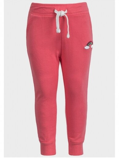 Rožinės sportinio stiliaus kelnės Vaivorykštė 0718D137