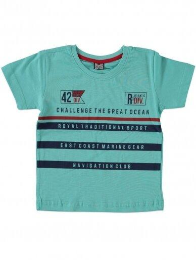 Salotinės spalvos vaikiški marškinėliai 0046D12