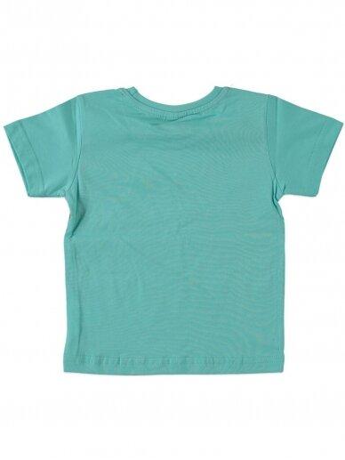 Salotinės spalvos vaikiški marškinėliai 0046D12 2