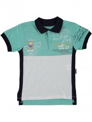 Salotinės spalvos marškinėliai su sagutėmis 0057D12
