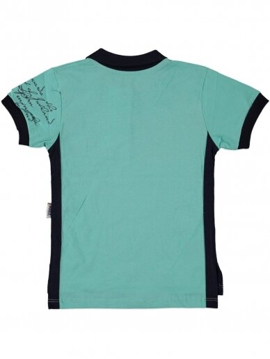 Salotinės spalvos marškinėliai su sagutėmis 0057D12 2