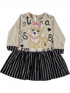 Smėlio spalvos vaikiška suknelė 0190D38