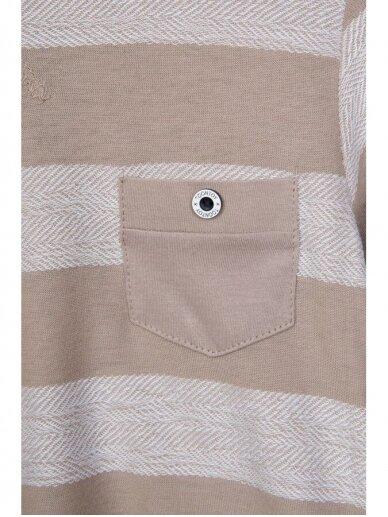 Smėlio spalvos dryžuotas plonas džemperis 0812D165 3