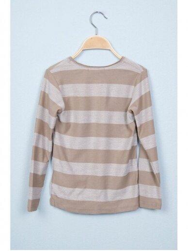Smėlio spalvos dryžuotas plonas džemperis 0812D165 2