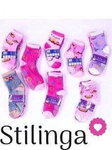 Spalvotų kojinių su neslystančiu padu rinkinys 4851D02, 5 poros