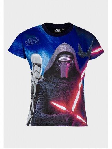 Star Wars marškinėliai su juodos spalvos apykakle 0964D181
