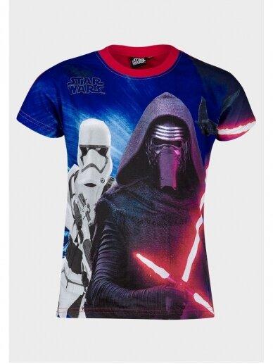 Star Wars marškinėliai su raudonos spalvos apykakle 0966D181