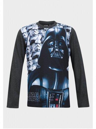 Star Wars pilki marškinėliai ilgomis rankovėmis 0962D181