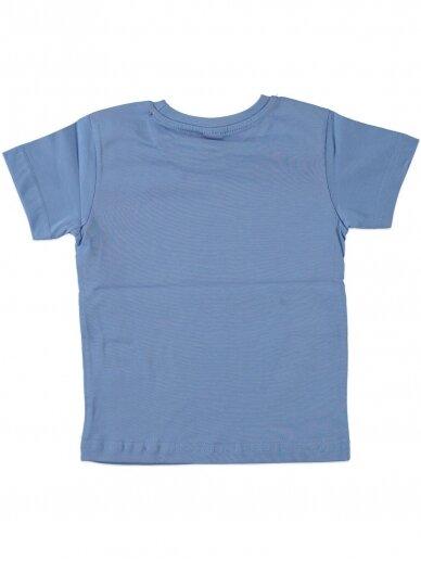 Šviesiai mėlynos spalvos marškinėliai 0050D12 2