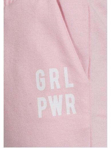 Šviesiai rožinės sportinės kelnės Girl Power 0719D137 2