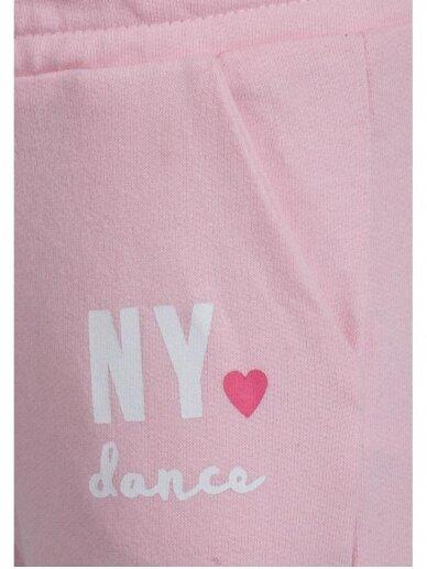 Šviesiai rožinės sportinės kelnės NY Dance 0720D137 2