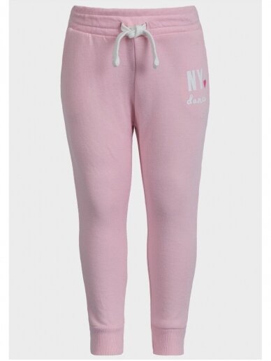 Šviesiai rožinės sportinės kelnės NY Dance 0720D137
